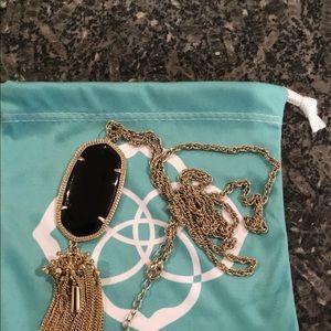 Kendra Scott Black Rayne Necklace